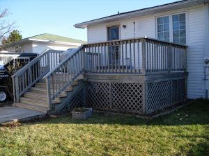 Home Renovations: Before photo of Deck Renovations