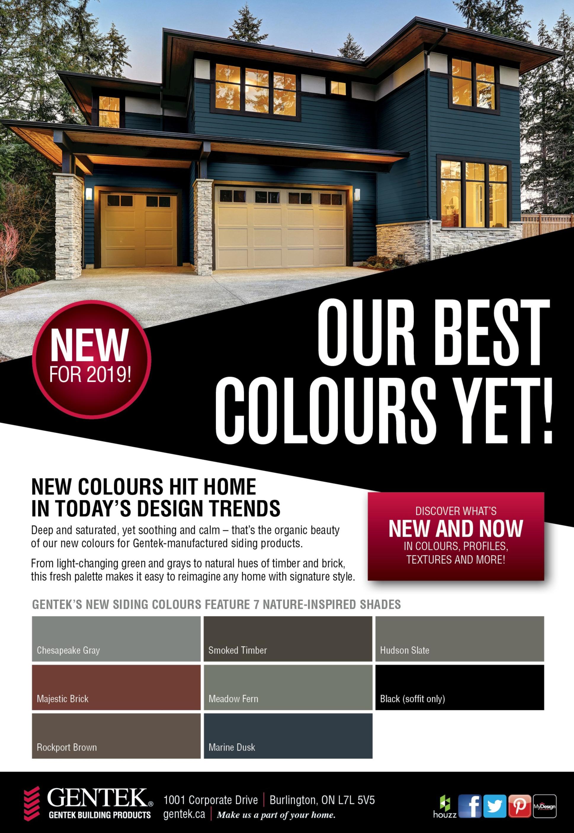 Gentek - New Colours 2019